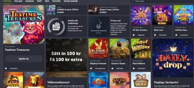 ComeOn är ett populärt casino utan konto